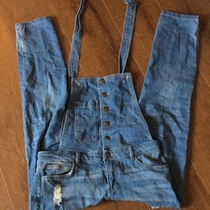 Life in progress skinny overalls 27